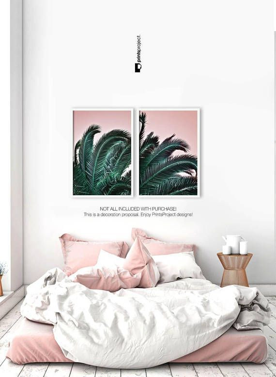 Palm Tree Decor for Bedroom Palm Leaf Print Printable Gift Her Boho Bedroom Decor