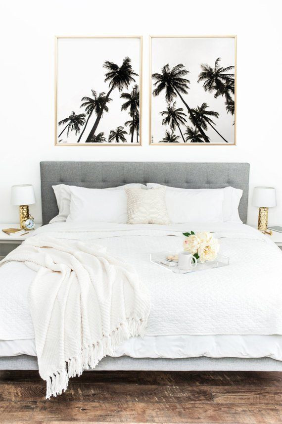 Palm Tree Decor for Bedroom Palm Trees Print Set Of Palm Prints Tropical Poster Palm