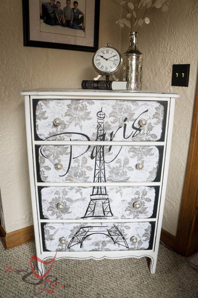 Paris themed Decor for Bedroom Eiffel tower Dresser