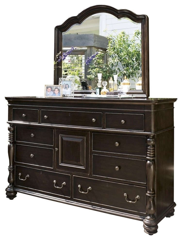 Paula Deen Furniture Bedroom Paula Deen Home Door Dresser with Mirror tobacco