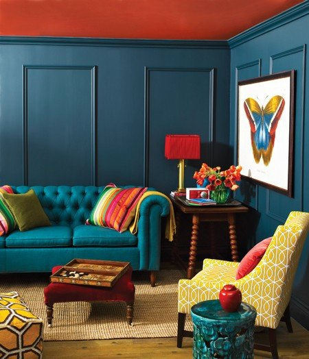 Peacock Decor for Living Room Indigo Blue – Peacock Blue – Living Room – Interior Design