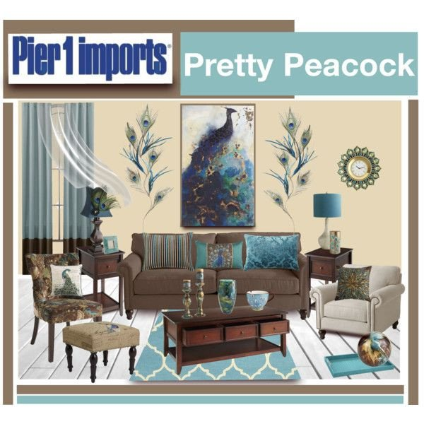 "Peacock Decor for Living Room ""pier 1 Imports Pretty Peacock"" by Truthjc On Polyvore"