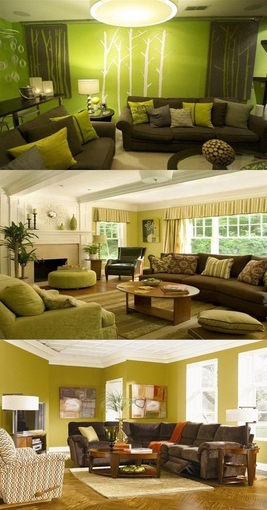Pictures for Living Room Decor Green and Brown Living Room Decor Interior Design
