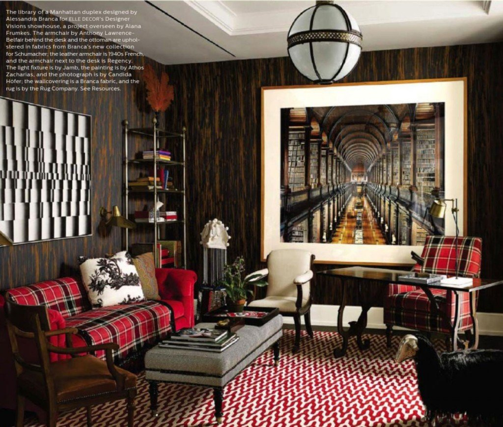 Pictures for Living Room Decor Reaching New Heights Elle Decor December 2013