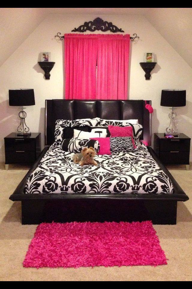 Pink and Black Bedroom Decor Pink & Black Bd Rm