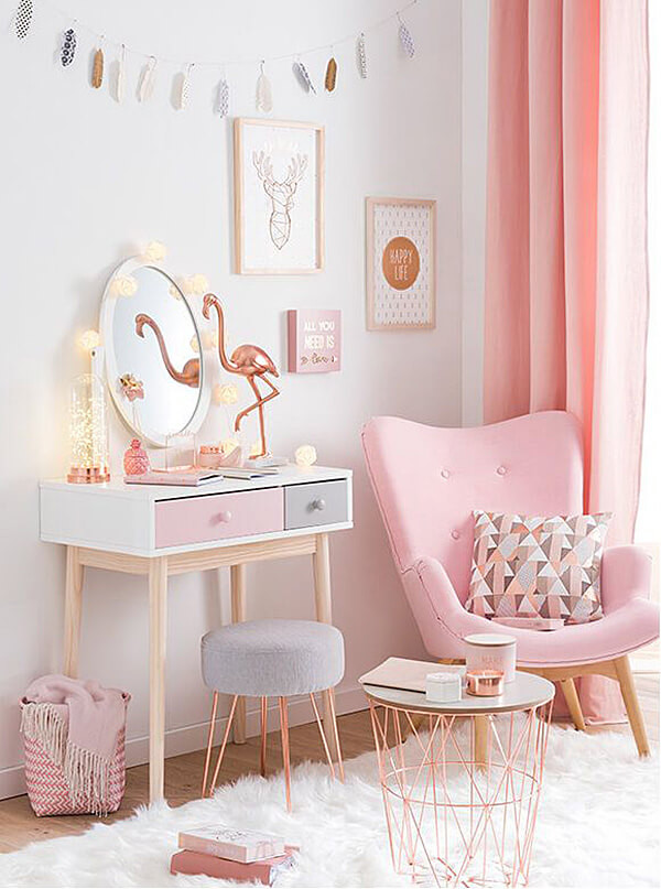 Pink and Gold Bedroom Decor 23 Best Copper and Blush Home Decor Ideas and Designs for 2020