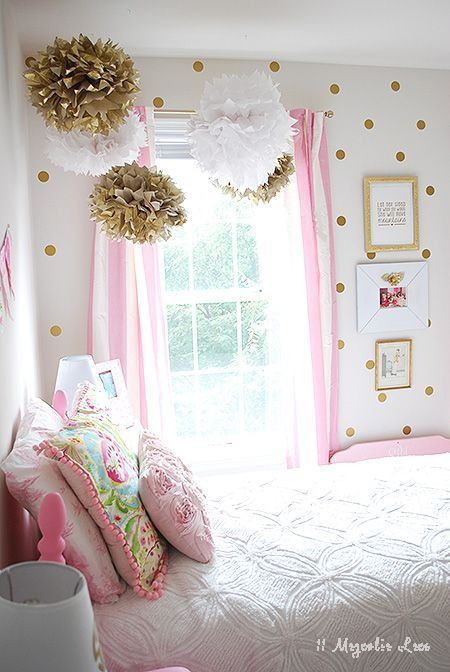 Pink and Gold Bedroom Decor Little Girl S Room Decorated In Pink White & Gold