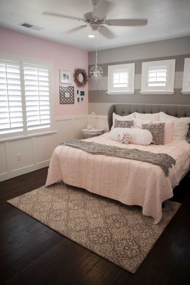 Pink and Gray Bedroom Decor 53 Cozy and Beautiful Female Bedroom Ideas