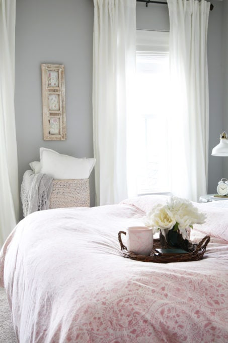 Pink and Gray Bedroom Decor Sweet and Simple Guest Bedroom Decor