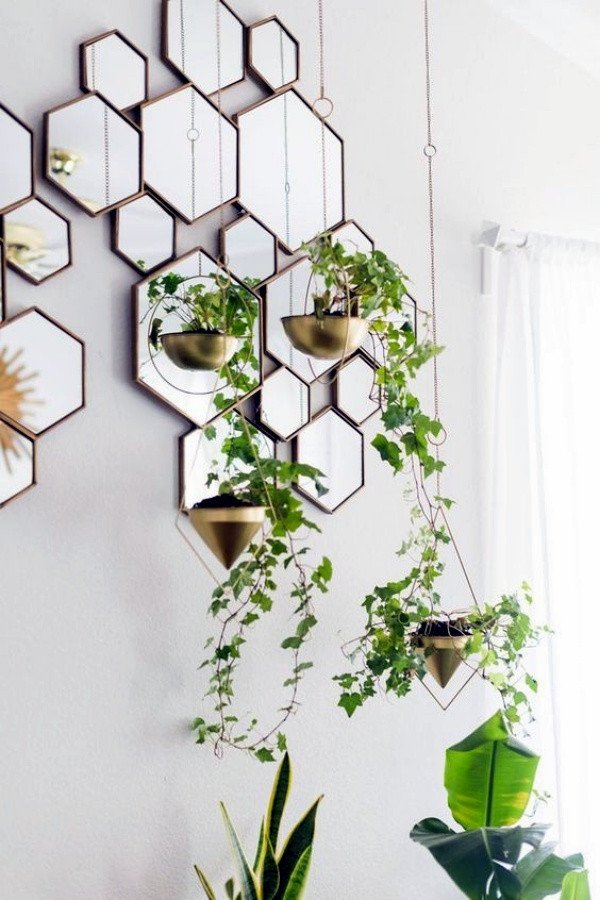 Plant Stand Ideas to Fill Your Living Room 40 so Perfect Wall Hanging Plant Decor Ideas