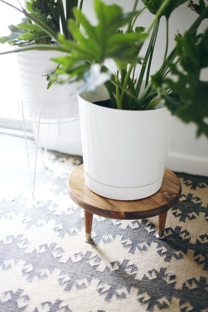 Plant Stand Ideas to Fill Your Living Room Diy Midcentury Style Plant Stand – A Beautiful Mess
