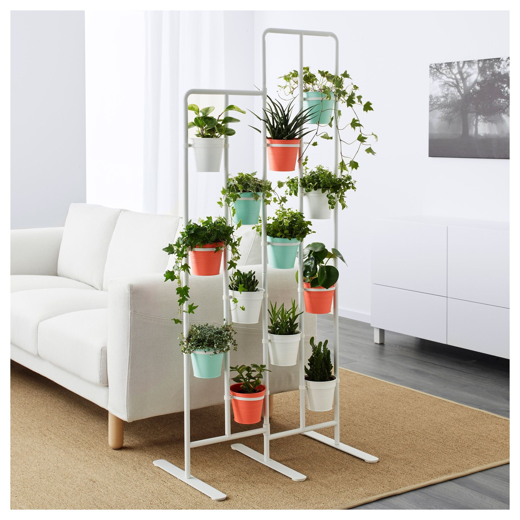 Plant Stand Ideas to Fill Your Living Room Ikea socker Plant Stand Çiçeklik