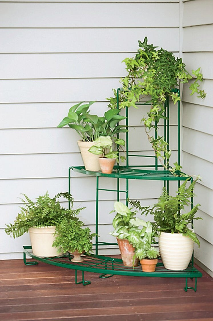 Plant Stand Ideas to Fill Your Living Room Quarter Round Plant Terrace