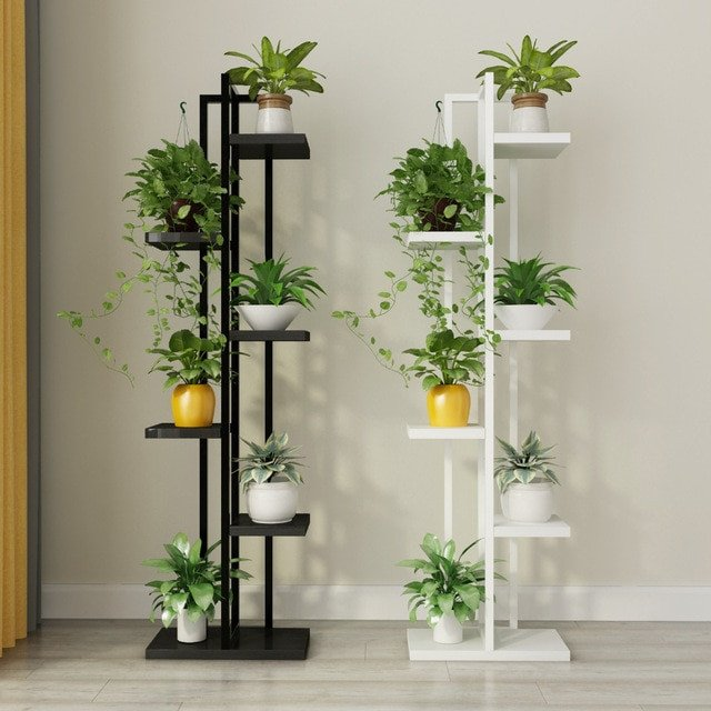 Plant Stand Ideas to Fill Your Living Room Standing Flower Shelf Living Room & Balcony Plant Shelf