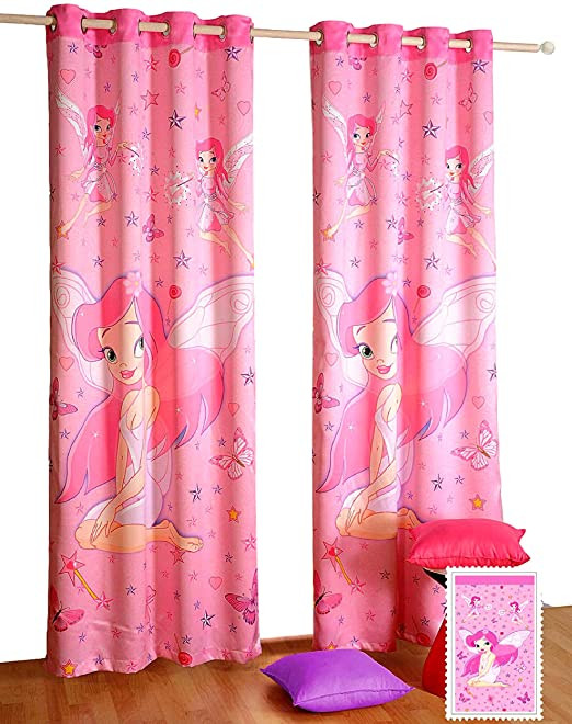 Plum Curtains for Bedroom Amazon Shalinindia Fairy Window Curtains Set Of 2
