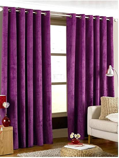 Plum Curtains for Bedroom Amazon Tiyana Purple Velvet Curtains 72 Inches Long for