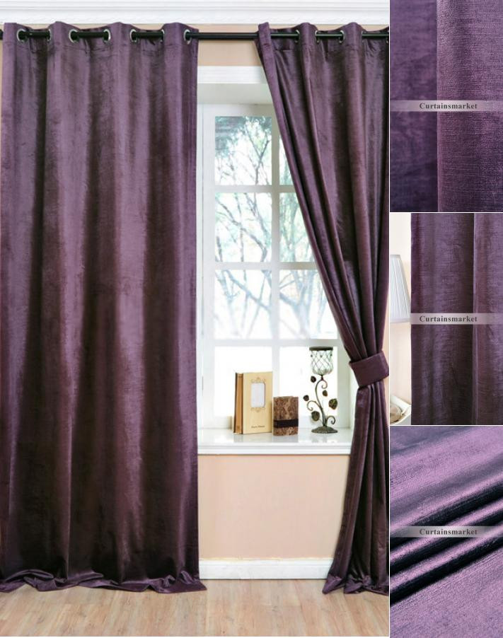 Plum Curtains for Bedroom Deep Purple Curtain Made Up Of Polyester for Room Darkening