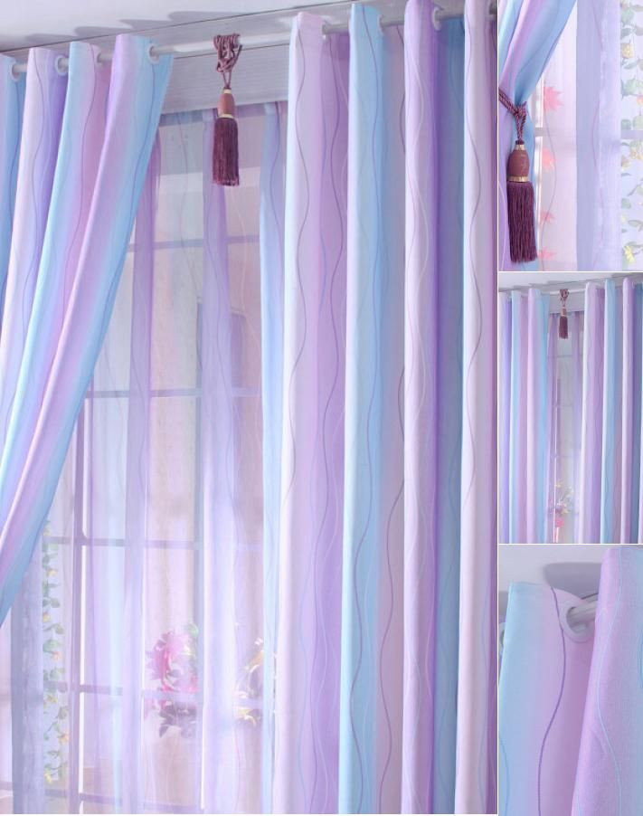 Plum Curtains for Bedroom Discount Purple Baby Blue Lines Cool Curtains In 2020