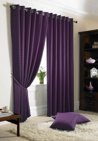Plum Curtains for Bedroom Madison Eyelet Lined Curtains In 2019
