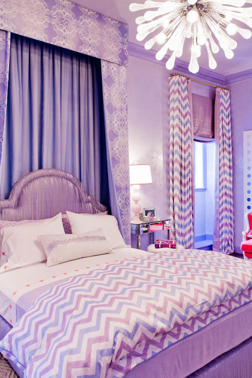 Plum Curtains for Bedroom Purple Bedrooms Contemporary Girl S Room Robyn Karp