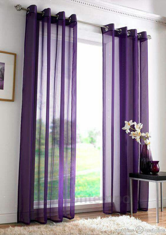 Plum Curtains for Bedroom Purple Sheer Panels