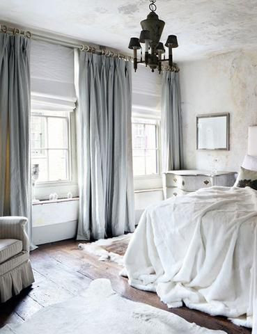 Pretty Curtains for Bedroom Luxurious Bedroom with Pale Blue Velvet Curtains