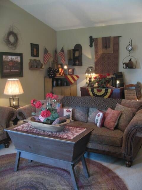 primitive americana living room ideas