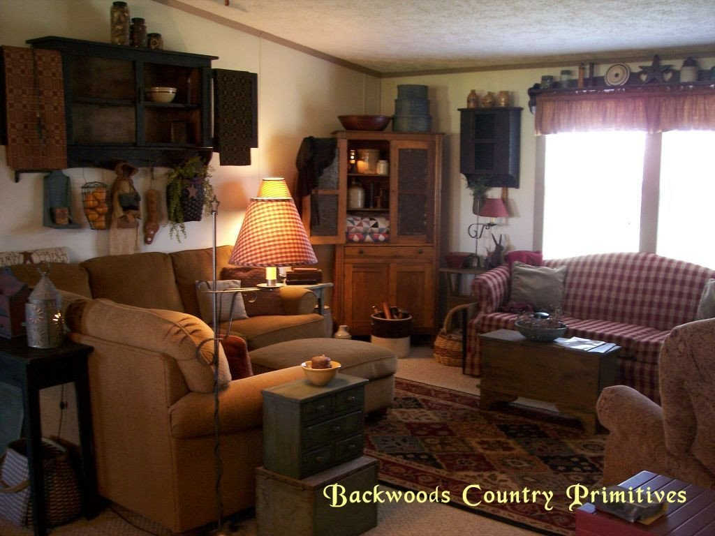 Primitive Small Living Room Ideas Backwoods Country Primitives