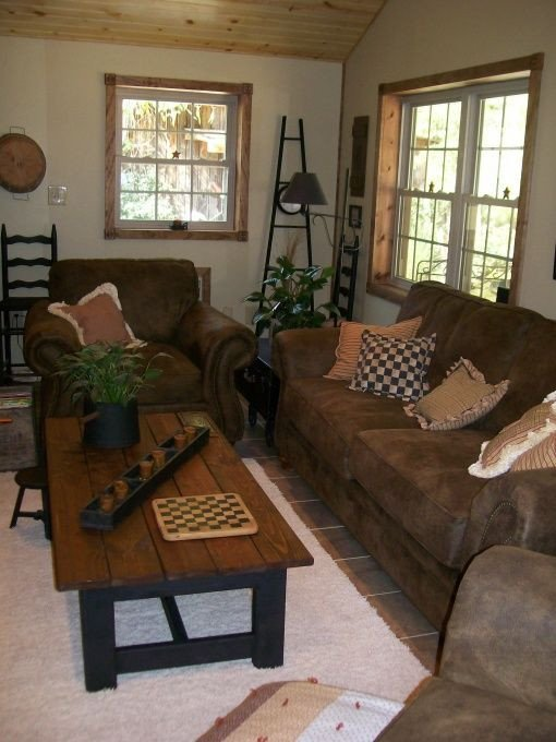 Primitive Small Living Room Ideas Primitive Country and Folk Art Living Room Designs