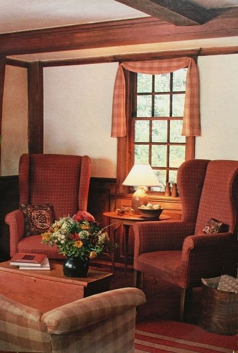 Primitive Small Living Room Ideas This Red Primitive Living Room is Amazing