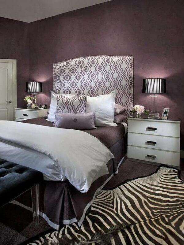 Purple and Grey Bedroom Decor 25 attractive Purple Bedroom Design Ideas to Copy