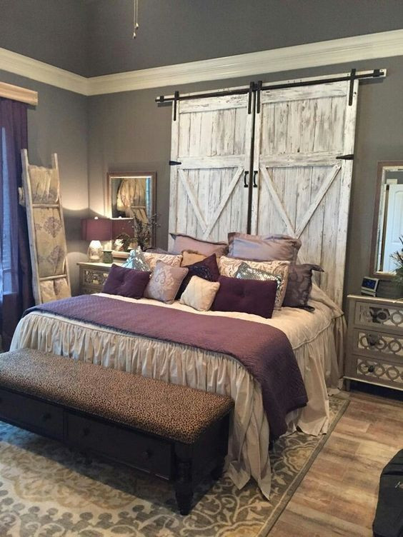 Purple and Grey Bedroom Decor Rustic Headboard Ideas for My Master Bedroom