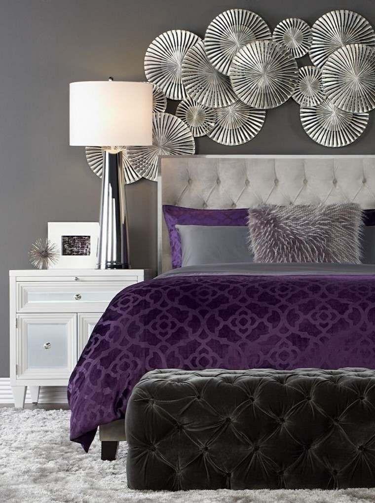 Purple and Silver Bedroom Decoraci³n De Interiores Mod Bedroom Con Imágenes