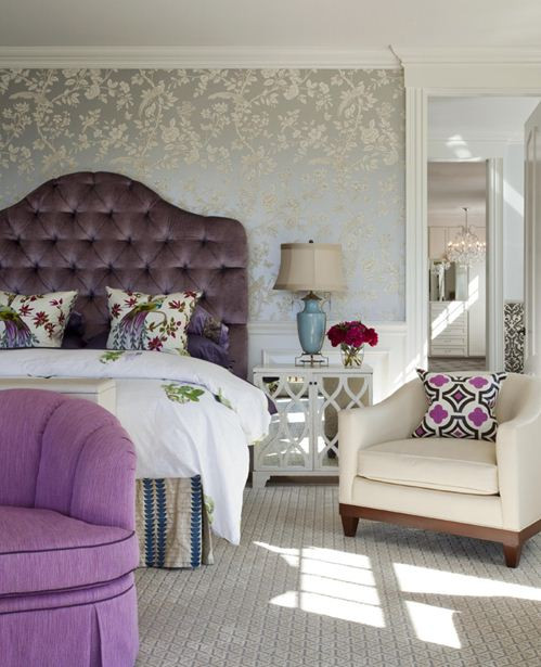 Purple and Silver Bedroom Jll Design Accent with Amethyst