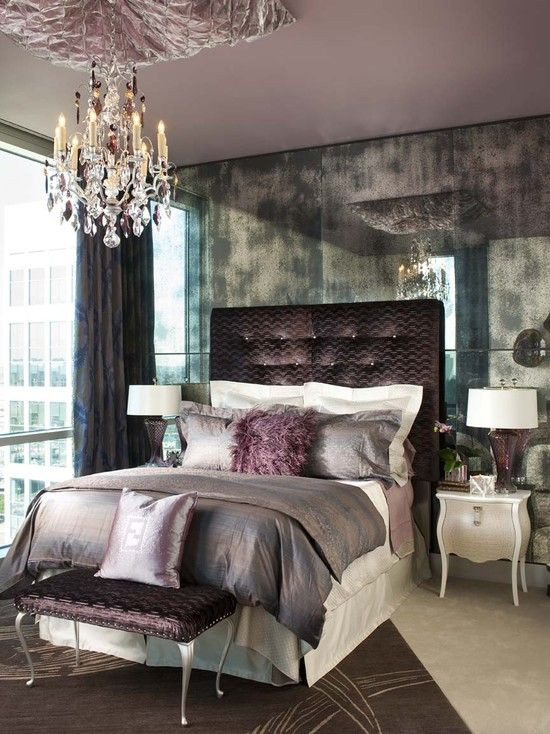 Purple and Silver Bedroom Luscious Purple Bedroom Designs for Modern Interiors