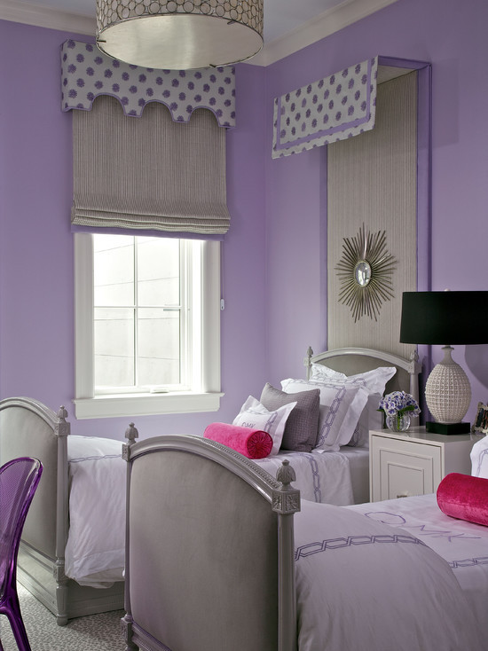 Purple and Silver Bedroom Purple and Gray Girls Room Contemporary Girl S Room