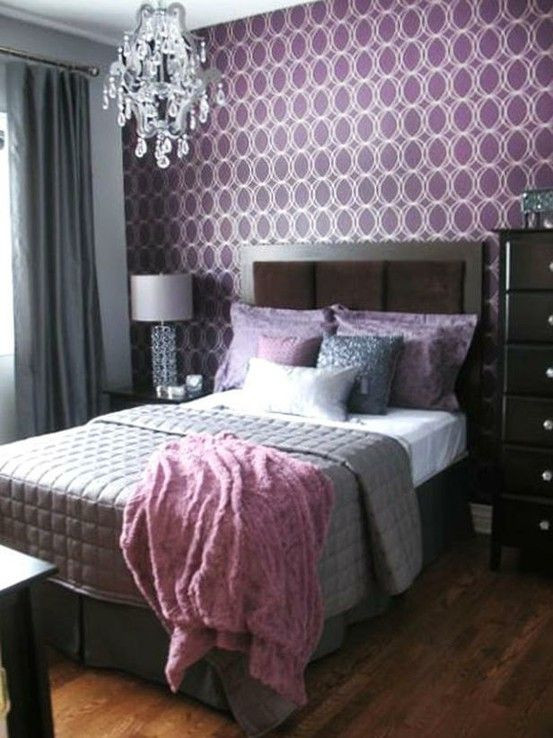 Purple and Silver Bedroom Purple and Silver