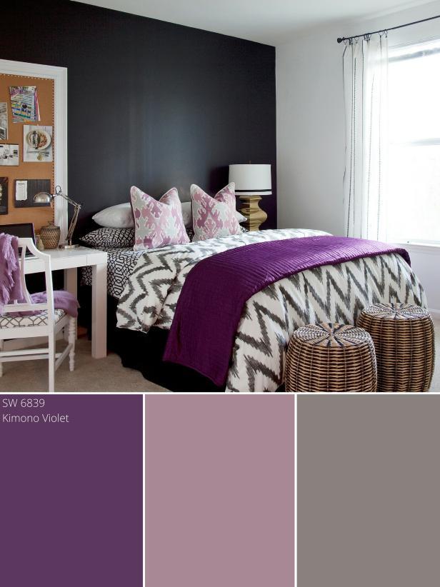 Purple and Silver Bedroom Purple Bedrooms Ideas & Options