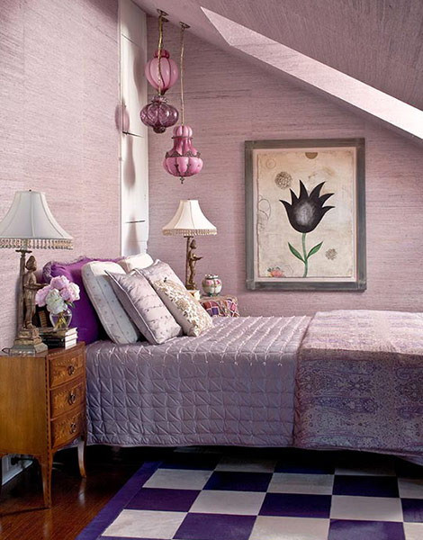 Purple and White Bedroom 19 Purple and White Bedroom Bination Ideas