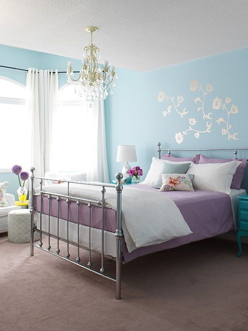 Purple and White Bedroom Suzie Margot Austin Blue & Purple Girl S Bedroom Design