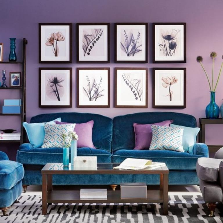 Purple Decor for Living Room 20 Dazzling Purple Living Room Designs Rilane