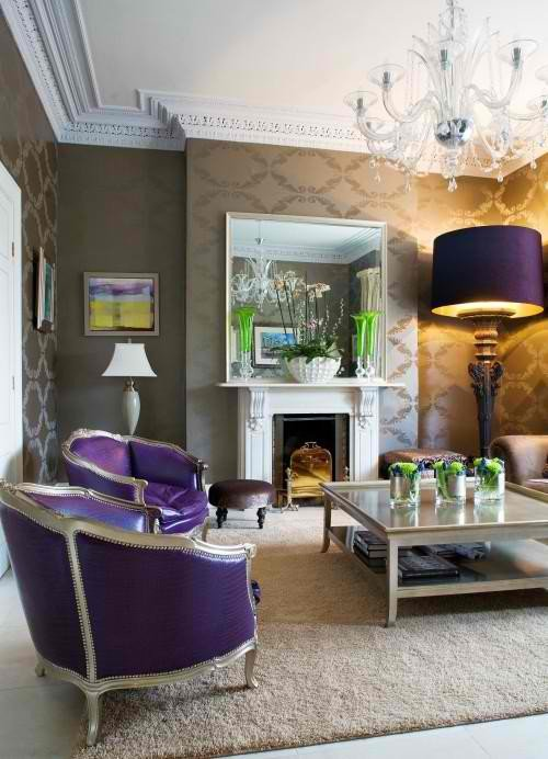 Purple Decor for Living Room 20 Purple Living Rooms Decoholic