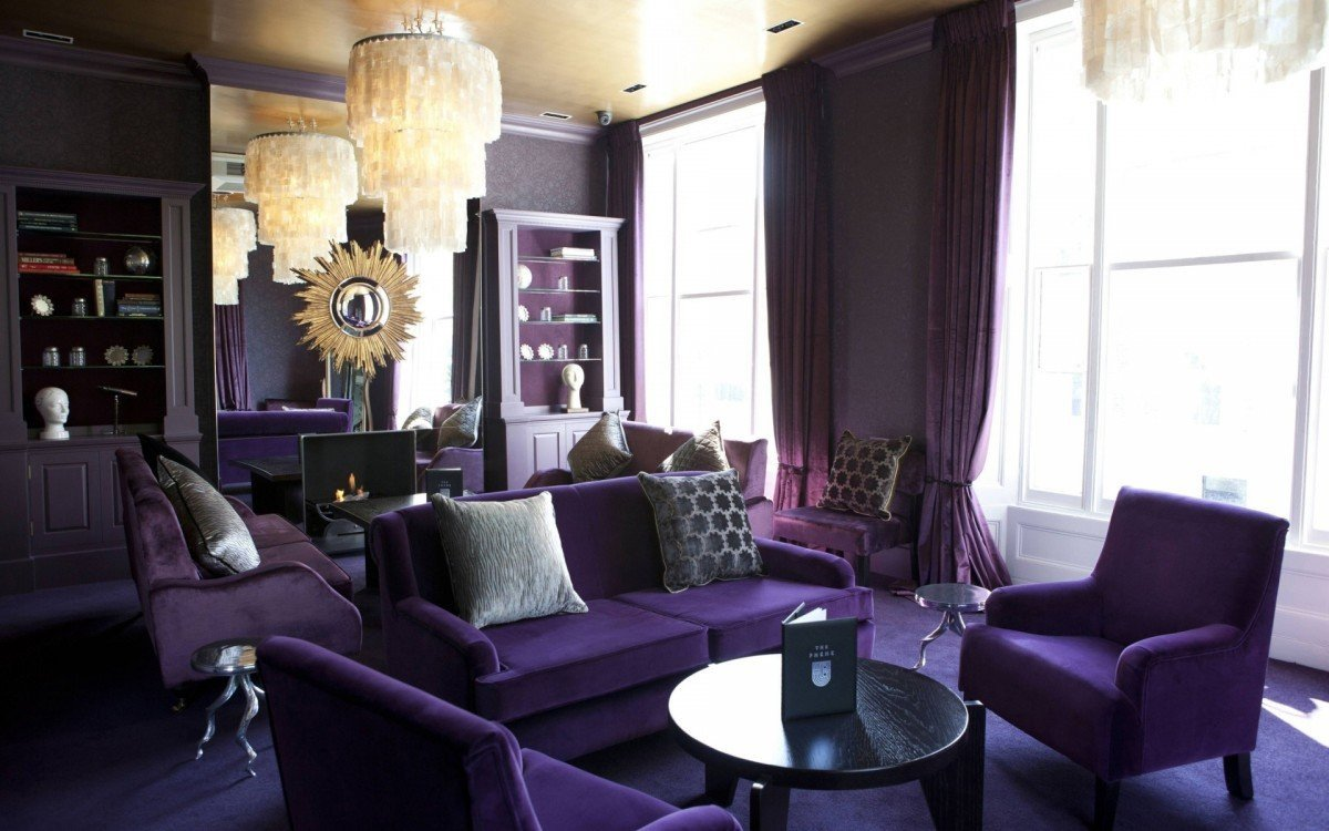 Purple Decor for Living Room Decorating with Purple