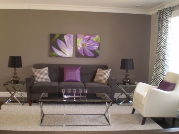 Purple Decor for Living Room Gray and Purple Living Rooms Ideas