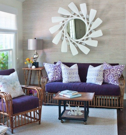 Purple Decor for Living Room Purple Living Room Decor Inspired by the Coast