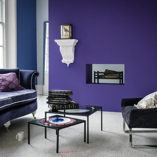 Purple Decor for Living Room Purple Modern Living Room