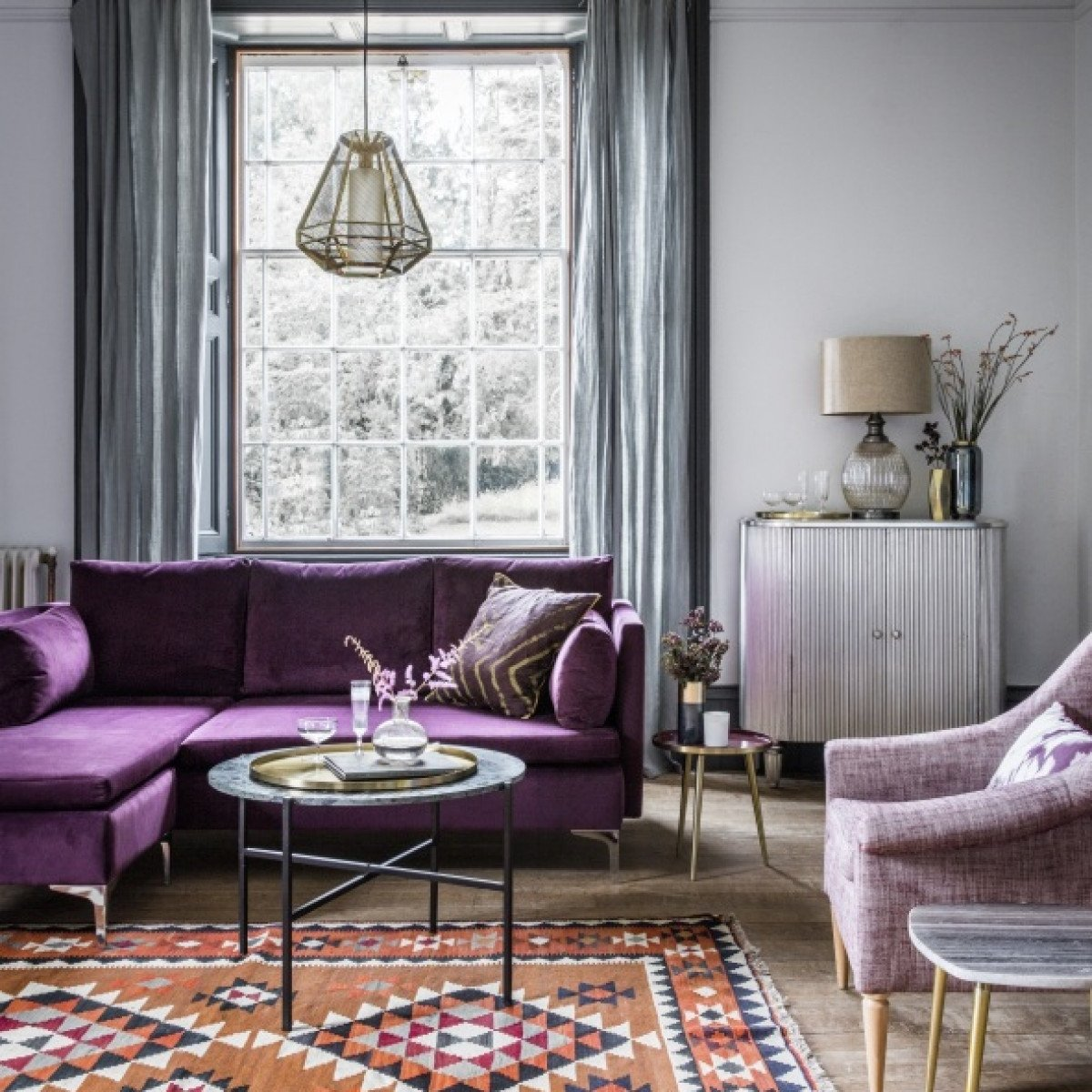 Purple Decor for Living Room Room Reveal Purple and Grey Living Room – sophie Robinson