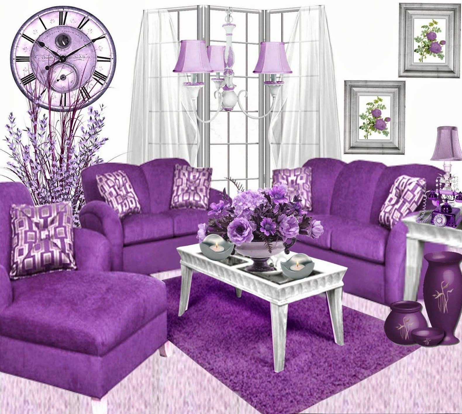 Purple Decor for Living Room Tips On Decorating Purple Living Room Decorating Room