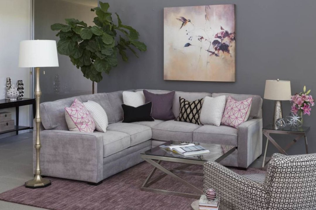 Purple Decor for Living Room We Re Inspired by the Purple and Grey Color Bo In This