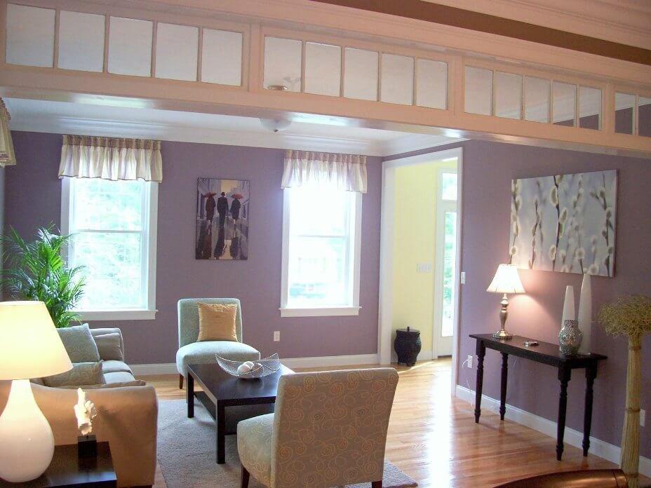 Purple Wall Decor Living Room 10 Chic Purple Living Room Interior Design Ideas S
